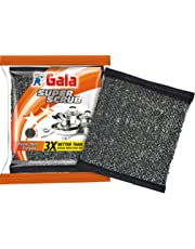 Gala Super Scrub Set – Made of Steel – Black – Pack of 6