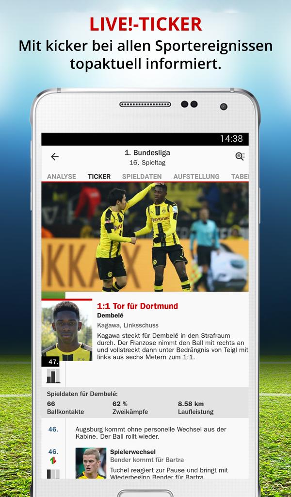 Bundesliga Ticker Kicker