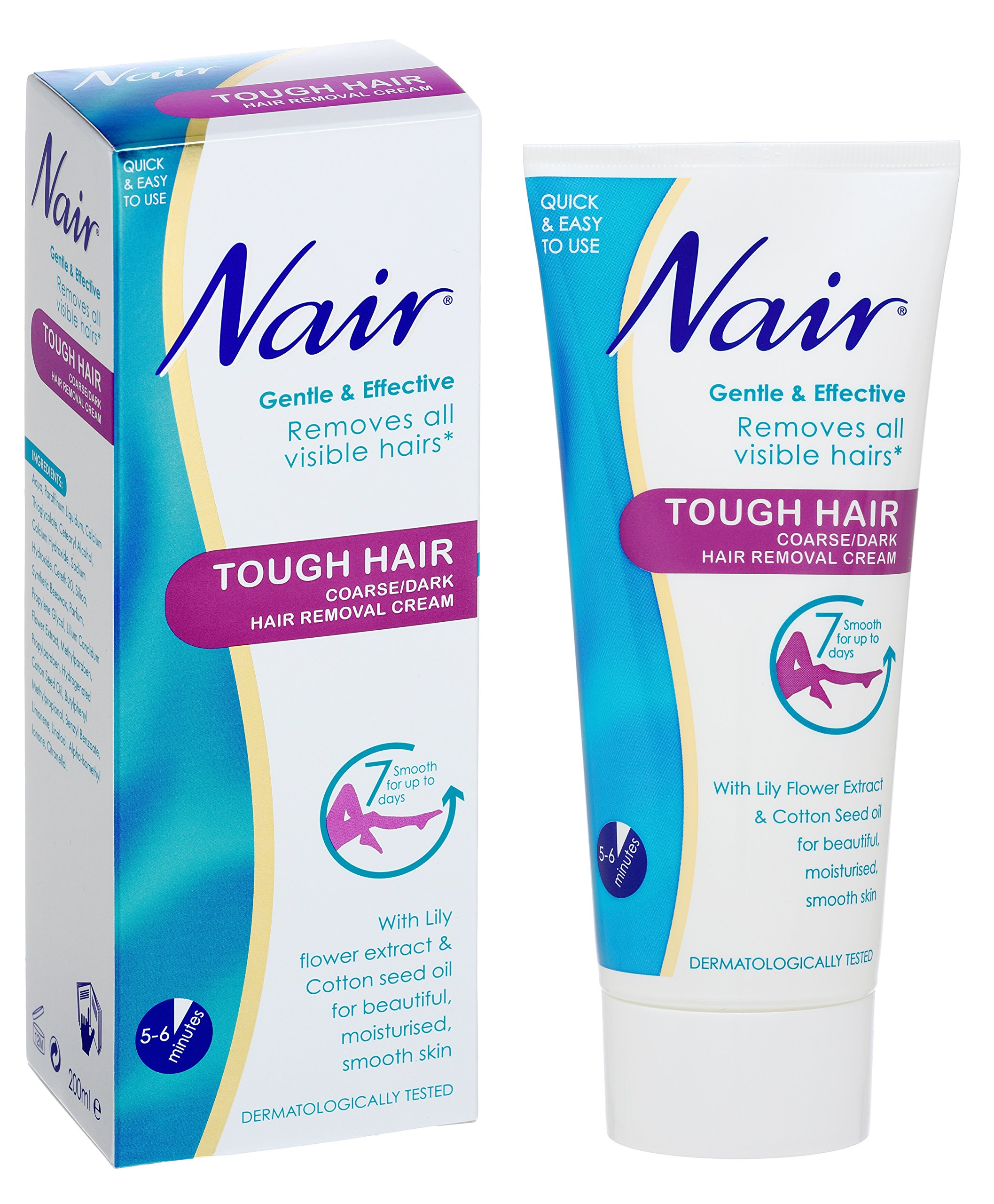 Nair Tough Hair Removal Cream For Coarse Dark Hair With Lily Flower Extr Ebay