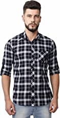 VERSATYL 100% Cotton Slim Fit Casual Shirts for Men Full Sleeves