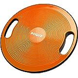 POWRX Balance Board inkl. Workout I Wobble Board Ø 40cm med handtag I Therapy Spinning Top för proprioceptiv träning och fysi