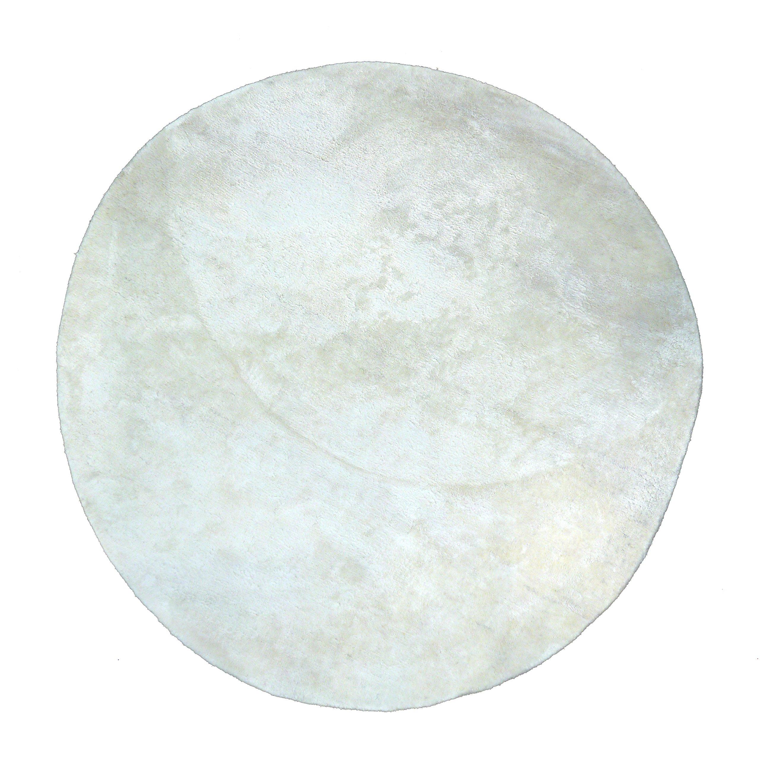 Pilepoil tappeto cerchio seta e cotone (130D, Bianco)