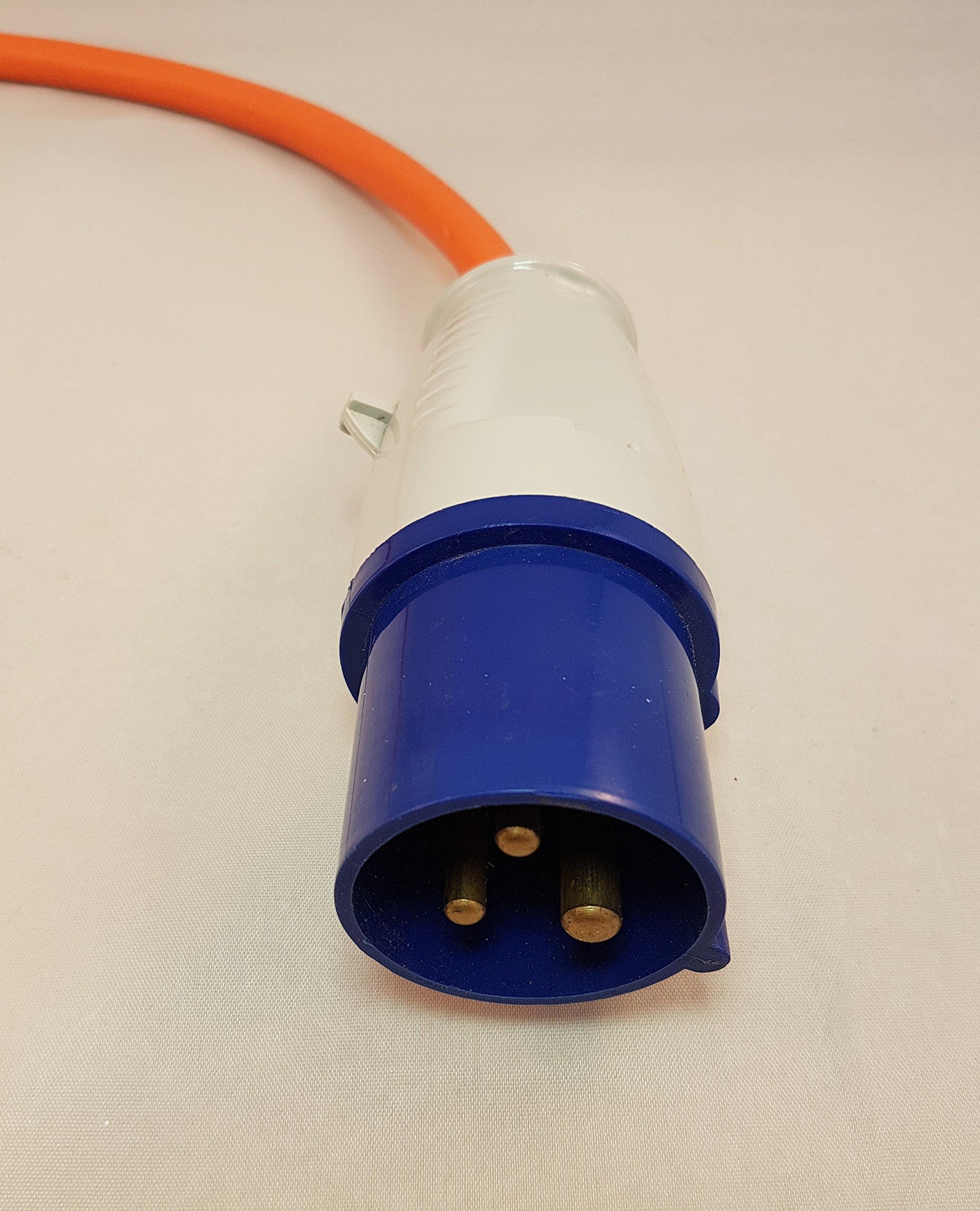 3D Cabin 16amp corrente elettrica spina antipolvere per camper/caravan/camping collegamento cavo: Blu