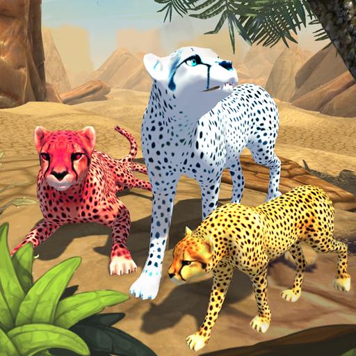 Cheetah Family Sim (Zebras Und Geparden)