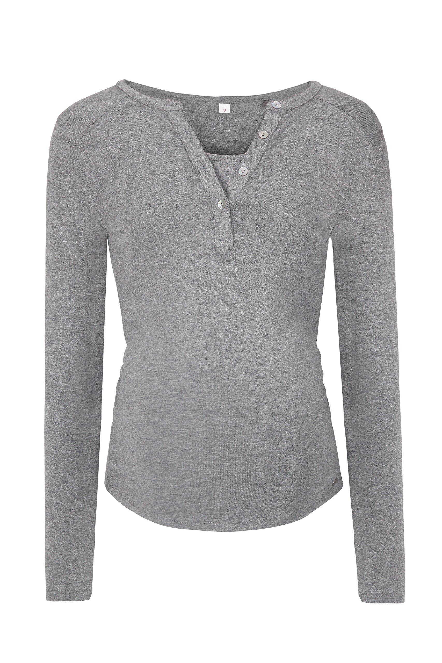 bellybutton Julia-Stillshirt 1/1 Arm, Maglie a Maniche Lunghe Premaman Donna, Grau (Middle 8500), 4