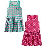 Simple Joys by Carter's 2-Pack Sleeveless Dress Vestido Casual Bebé-Niñas (Pack de 2)