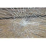 allvi® 4Mil Sicherheitsfolie Fensterfolie - Splitterschutz & Einbruchschutzfolie (100)