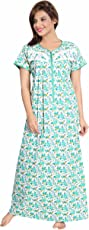 Soulemo Womens Multipurpose Pure Cotton Embroidery Nighty 730