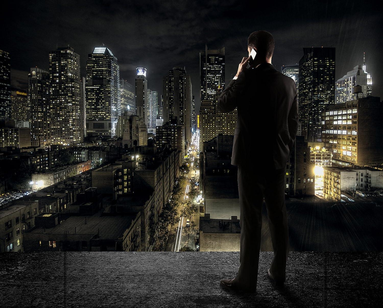 New York FOTOMURALE - Manhattan di notte quadro - HDR HD New York ...