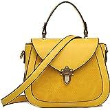 collezione alessandro Bolso y bandolera para mujer de moda con correa larga desmontable, ca.22x17x8cm, y bolsillo con cremall