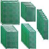 ELEGOO 32 Piezas Doble Cara Junta de PCB Doble Cara Tarjeta Placa Prototipo Kit para Soldadura DIY con 5 Tamaños Compatible c