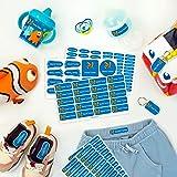 Pack de etiquetas para marcar la ropa, objetos, zapatos y mochilas de los niños. 142 etiquetas personalizadas perfectas para