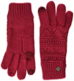 Roxy Damen Girl Challenge-Knitted Gloves for Women, Persian Red-Solid, One Size