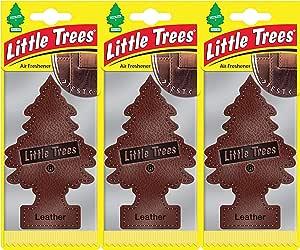 Little Trees Ltz016 Lufterfrischer Leder Triple Pack Set Of 3 Auto