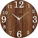 Saree House Wooden Wall Clock Round -11-inch