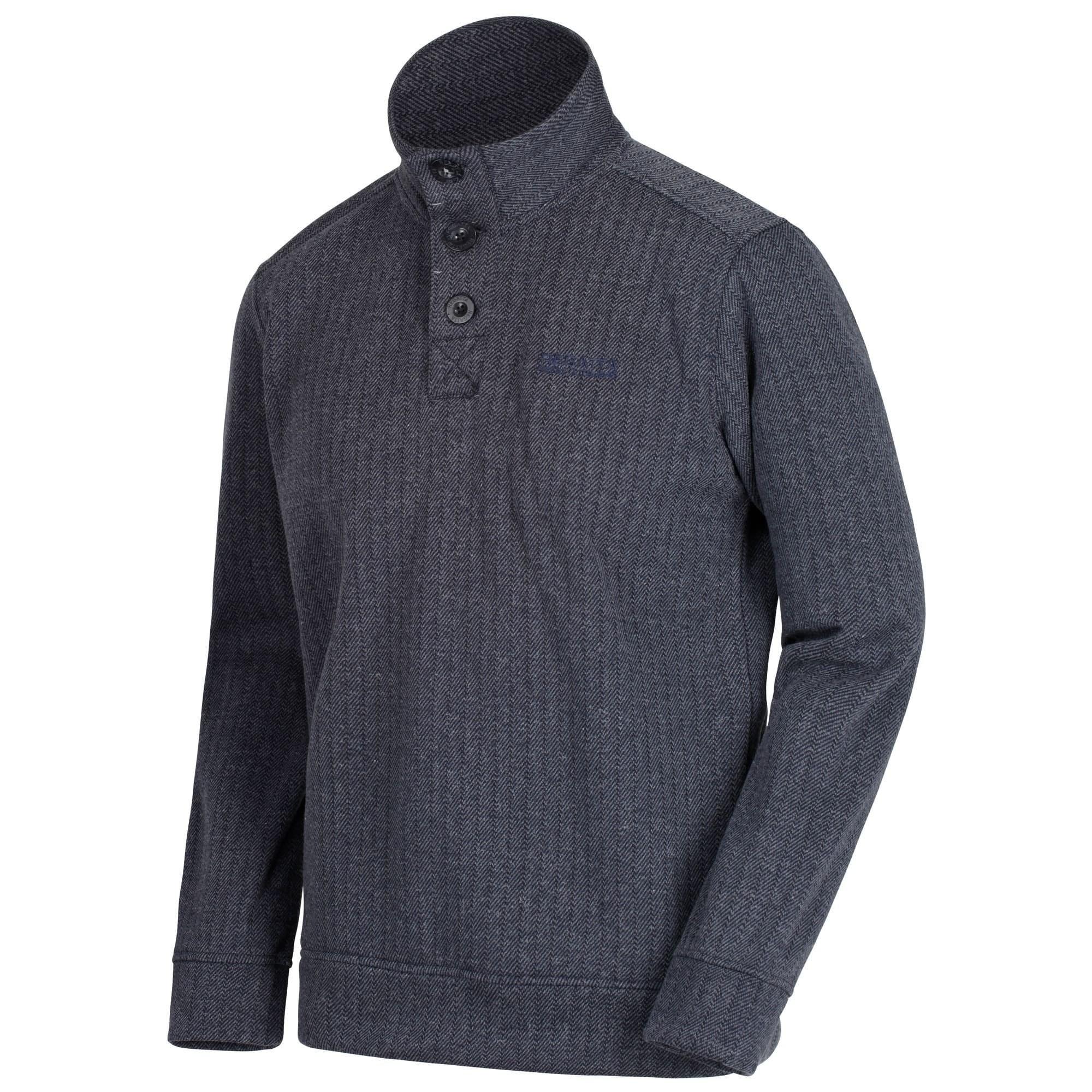 Regatta Herren Lucan Button Hals Fleece XL Navy