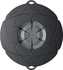 Original Kochblume - der Überkoch-Schutzdeckel mittel (Gundel) Farbe: schwarz-grau