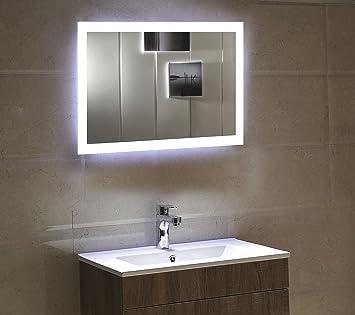 dr. fleischmann badspiegel led spiegel gs084n mit beleuchtung ... - Badezimmerspiegel Mit Led Beleuchtung