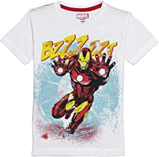 Avengers Boys' Plain Regular Fit T-Shirt