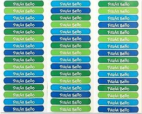 50 Etiketten um Gegenstände zu markieren, 6 x 1 cm. Kelle 5. Aufkleber zur Kennzeichnung von Büchern und Schulbedarf für Kindergärten und Schulen.