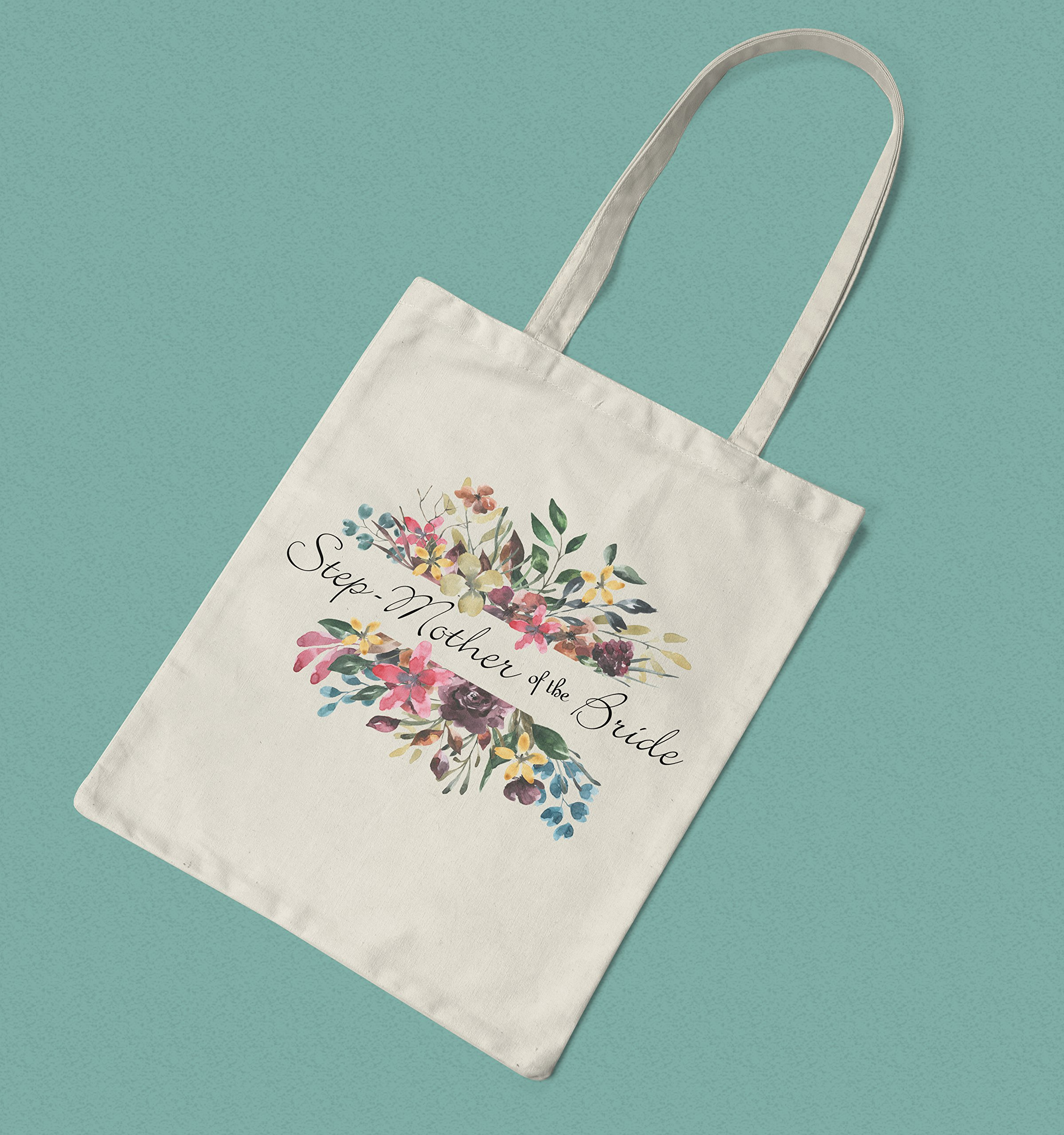 Floral Step-Mother of the Bride Printed Cotton Shopping Bag - handmade-bags