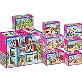 PLAYMOBIL® Dollhouse Set en 8 parties 70205 70206 70207 70208 70209 70210 70211 70212 maison poupée + Cuisine + Séjour + Cham
