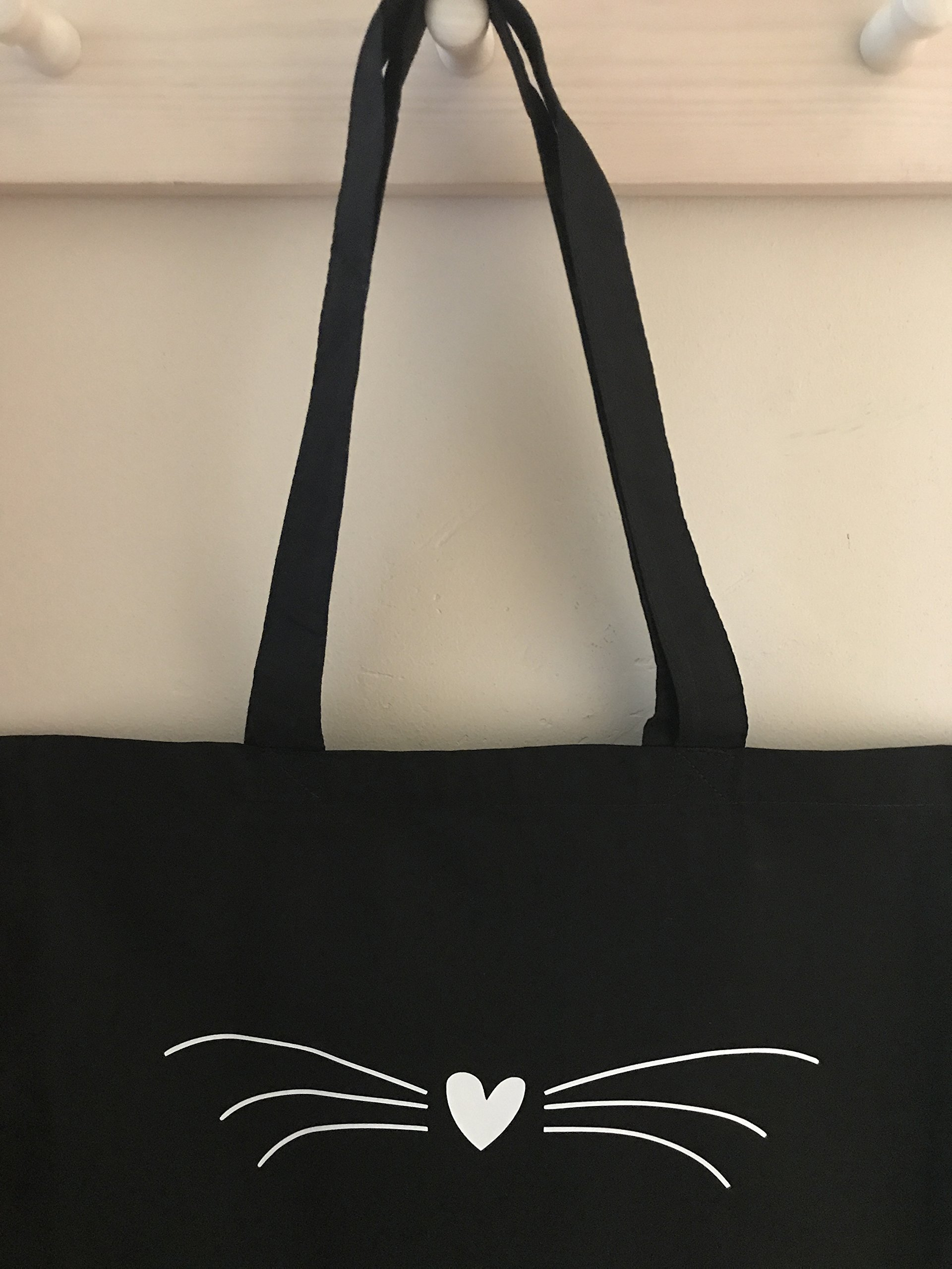 Cat Bag - Cat's Whiskers Tote Bag - Cat Lover's Gift - handmade-bags
