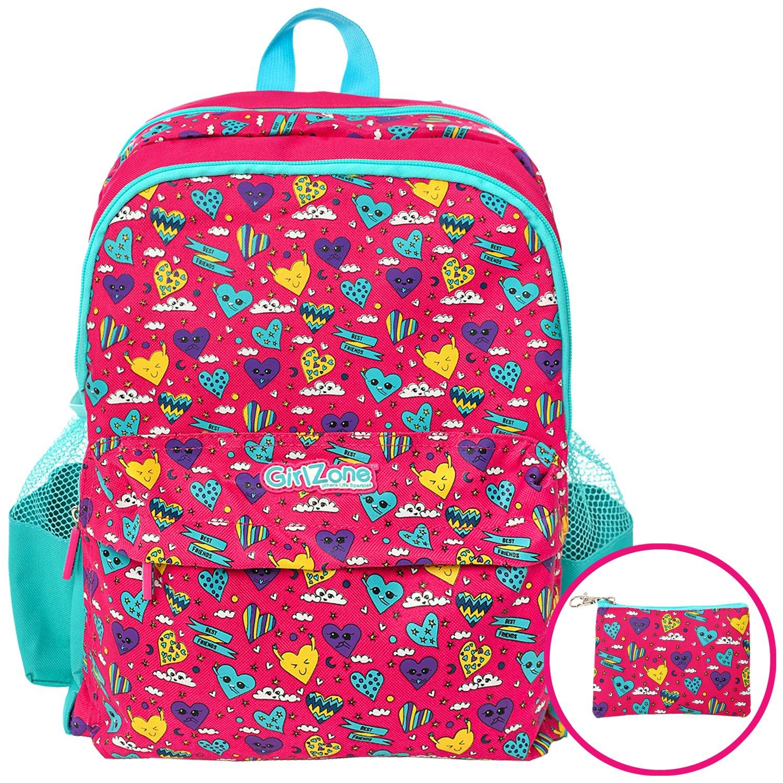 5ecbfdb2a4f691 GirlZone REGALO RAGAZZA ZAINO PER BAMBINI: borsa da scuola per ...
