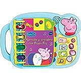 VTECH- Aprendo y Descubro con Peppa Pig Libro Infantil Que Enseña El Abecedario y Nuevas Palas, Multicolor, Talla Única (3480