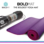 BoldFit Pro-Grip Luxury TPE Yoga mat with Carrying Bag Extra Thick and Ideal for Men and Women. Anti-Tear, Anti-Slip...