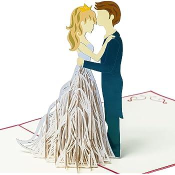 """primetea 3D Pop up Hochzeitskarte /""""Paar unter Fliederbogen/"""" modern"""