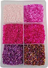 ESHOPPEE Jewellery Maiking, Art and Craft DIY kit with Glass/Seed Beads, 300g (Pink, ES3902)