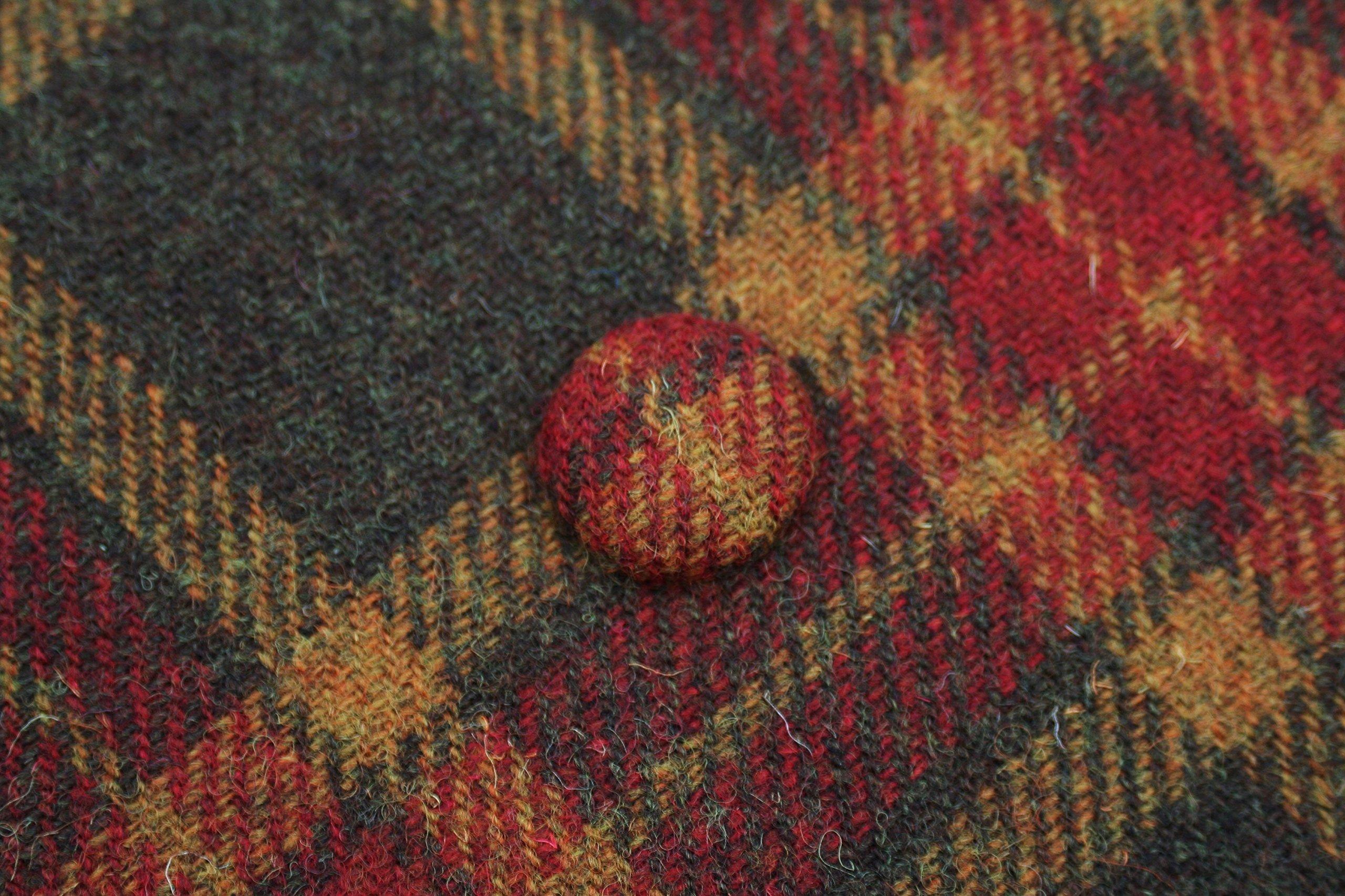 Harris tweed asymmetric tote - handmade-bags