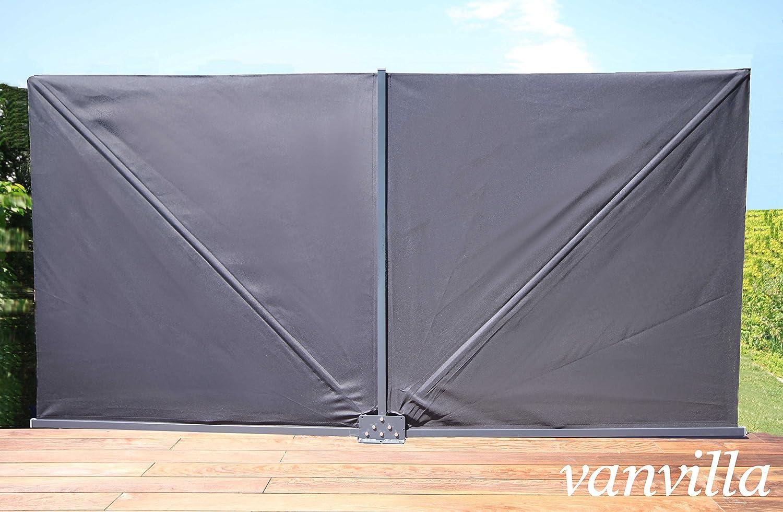 Amazon vanvilla Sichtschutzfächer klappbar Balkon Sichtschutz