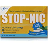 STOP-NIC Nicotine Gum 2mg, Cool Mint, Sugar-free, Stop Smoking Aid, 10 Gums Per Blister, (Pack of 100 Gums)