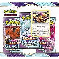Pokemon Epée et Bouclier-Règne de Glace-Pack 3 boosters-Jeu de Cartes à Collectionner-Modèle aléatoire, 3PACK01EB06