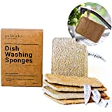 Goldrick | Pack Of 5 | Organic Dishwashing Sponges - Scrub - Scourer | Natural Loofah Plant Fibrous | Zero Waste Kitchen…