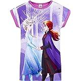 Disney Frozen 2 Pijama Niña, Camison Niña de Las Princesas Anna y Elsa Frozen, Vestidos Niña de Manga Corta, Ropa de Niña Ver