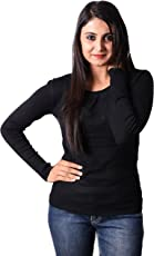 Otia Woolen Blouse - Full Sleeves Ladies Winter Sweater Blouses For Saree & Western Wear - Women n Girls Free Size Black Party Top for Jeans