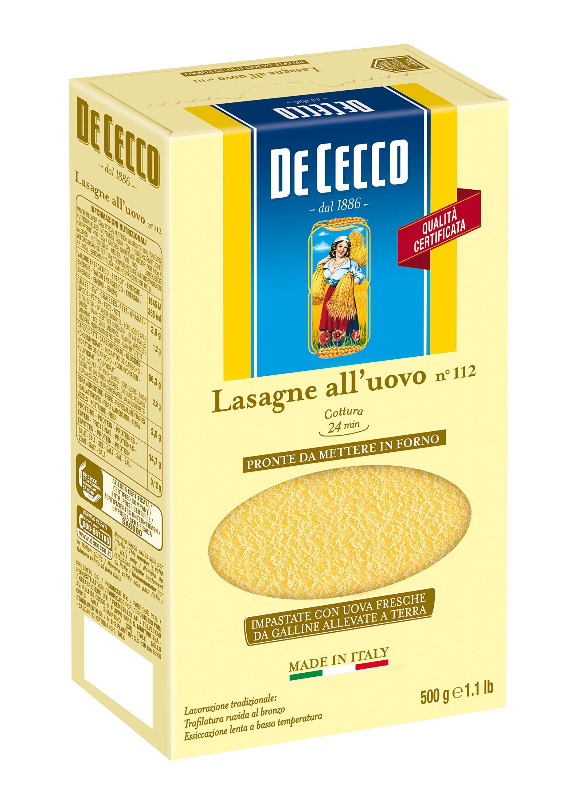 De Cecco Lasagna Timballo Uovo - 500 g
