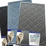 Große Katzenstreumatte 90 x 60 cm, fängt Streu einfach auf, leicht zu reinigen, langlebig, ungiftig, Streu Auffangmatte - Katzenklomatte, Katzenmatte, Katzenklo Unterlage