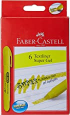 Faber-Castell Gel Textliner - Pack of 6 (Yellow)