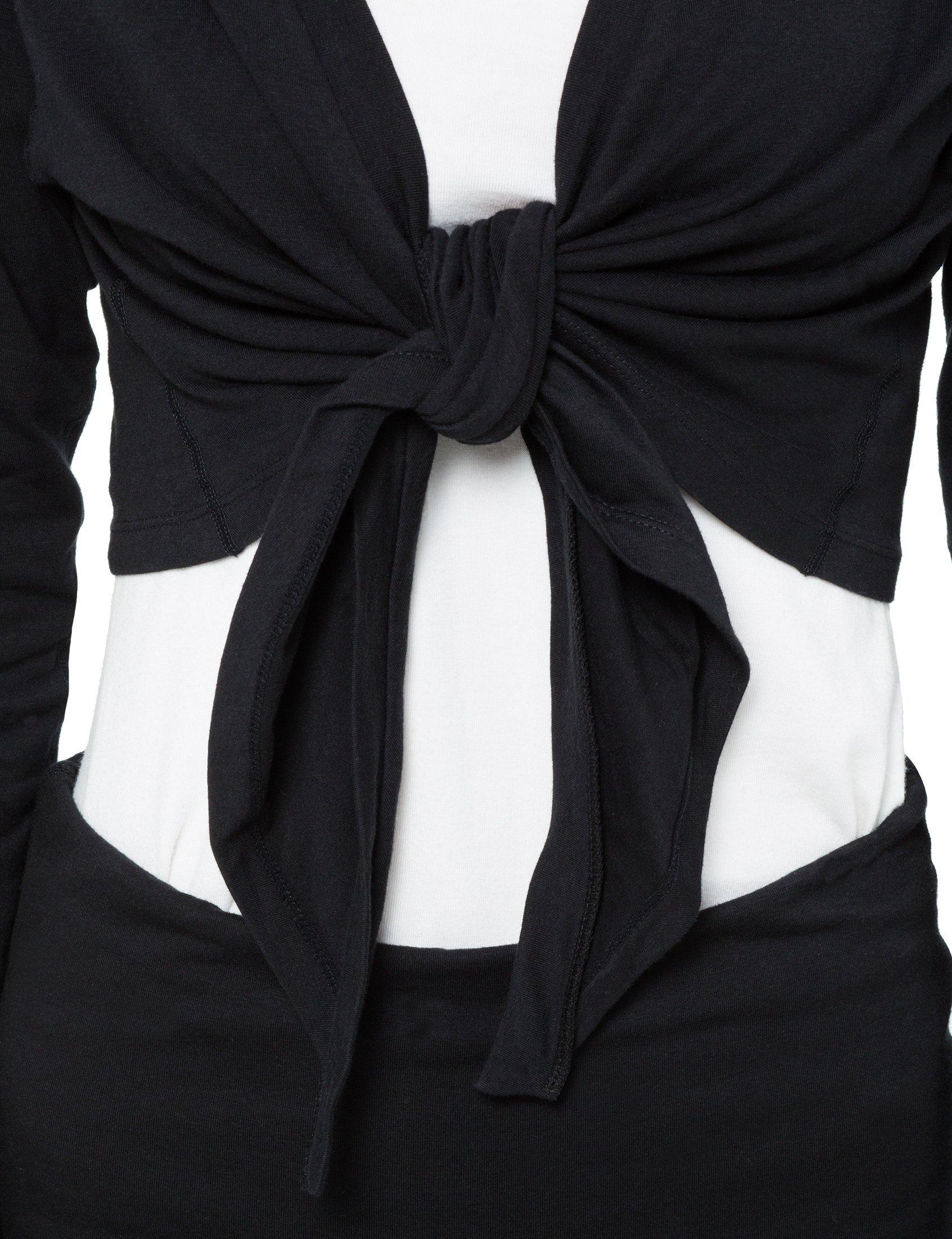 Ultrasport Cache Coeur Pour Danse Classique Et Yoga Gilet Cache Coeur Noir Pour Femme Bolero Noir A Manches Longues Jersey Veste Bolero Noire Ultrasport France Nr 1 Marque