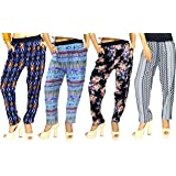 1 Stop Fashion Women's Straight Fit Pants (Pack of 4)