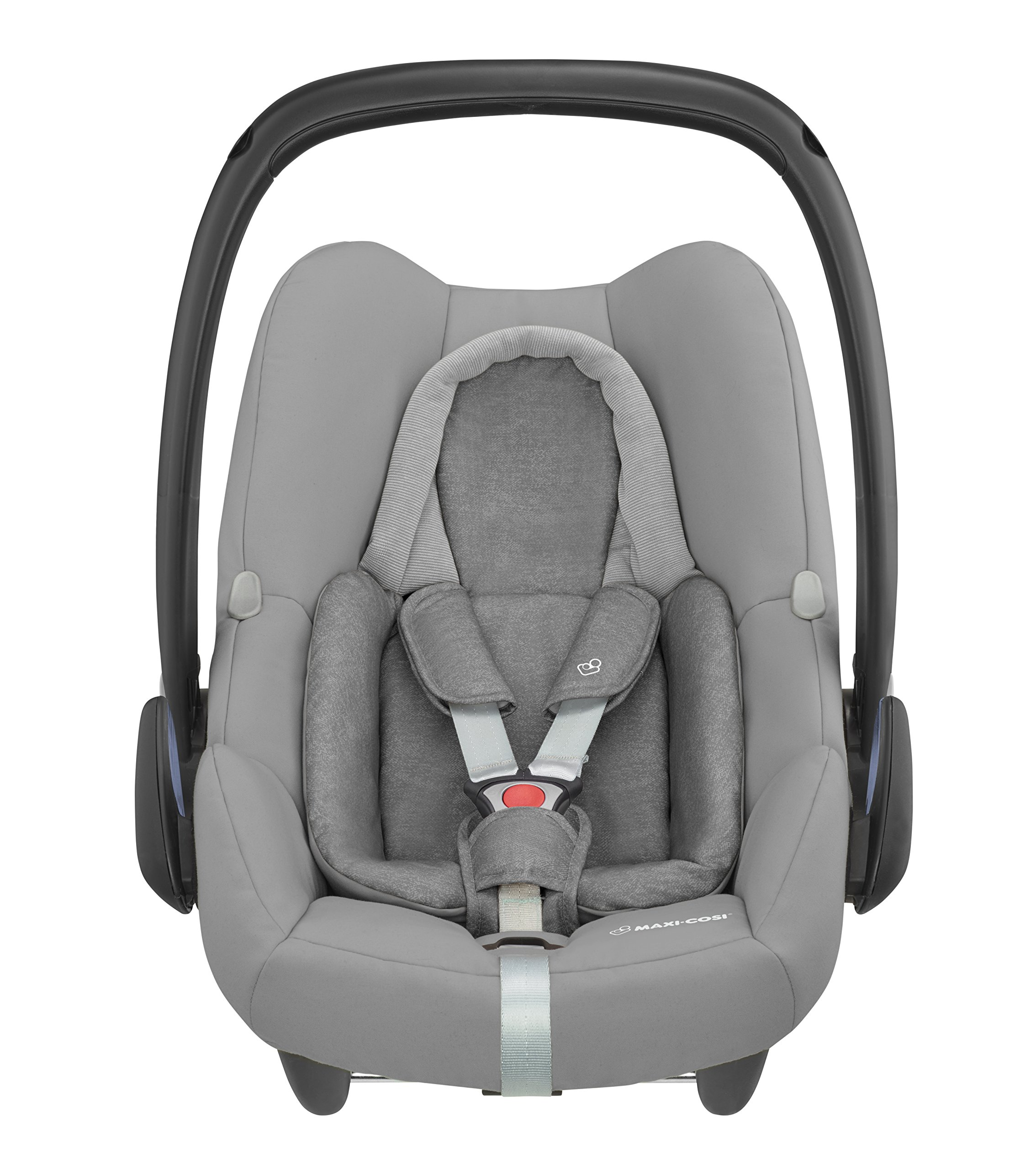Maxi-Cosi Rock i-Size Baby Car Seat, Nomad Grey with Raincover for Baby Car Seat, Transparent and Back Seat Car Mirror Maxi-Cosi High safety rating: complies with the latest i-Size (R129) car seat legislation Baby-hug inlay offers a better fit and laying position for new-born's Designed to fit onto the maxi-cosi pebble plus, pebble and cabriofix baby car seats 3