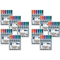 Staedtler Lumocolor Flipchart, Marqueurs pour tableau papier, Pointe moyenne de 2 mm, Étui chevalet avec 6 couleurs…