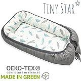 TinyStar: Multifunktionales Babynest Nestchen Für Baby 2 - seitig Kuschelnest 0-6 Monate Grau