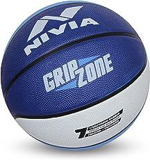 Nivia Grip Zone Basketball, Adult Size 7 (Blue/White)
