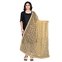 R R Fashion Gold Mono Net Embroidered aari floral Heavy Work along with Laced borders