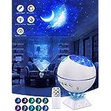 OTTOLIVES Mini LED étoile Projecteur Veilleuse, 120° Rotatif Télécommandées Galaxie D'éclairage Effets Nuage Lampe pour Voitu